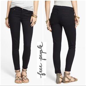 Free People Black Stretch skinny ankle jeans